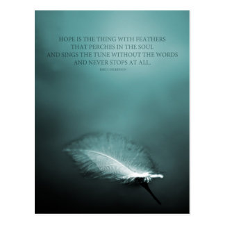 Hope is the thing with feathers postcard