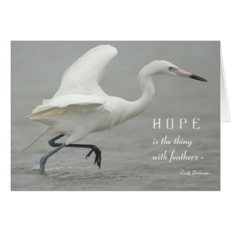 Hope is the Thing with Feathers - Reddish Egret Greeting Card