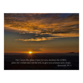 Hope - Jeremiah 29:11 Poster