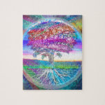 "Hope Jigsaw Puzzle<br><div class=""desc"">Tree pf Life features a colorful tree and root system in a rainbow of colors. Created for Amelian Angels and sold exclusively through AmelianAngels.com,  all rights reserved.</div>"