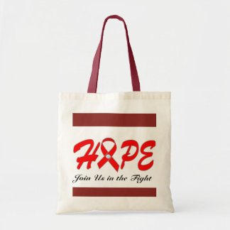 HOPE - Join Us In The Fight Budget Tote Bag