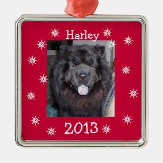 Hope Joy & Happiness Square Metal Christmas Ornament