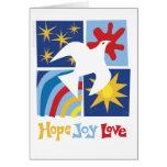 Hope Joy Love Greeting Card