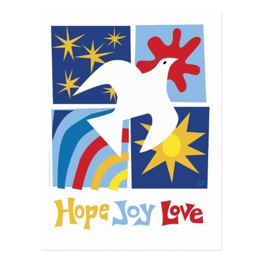 Hope Joy Love Postcard