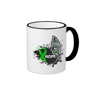 Hope Kidney Disease Butterfly Ringer Coffee Mug