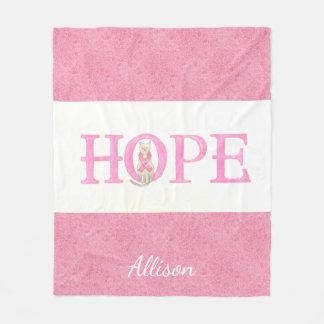 Hope Kitty Personalized Fleece Blanket