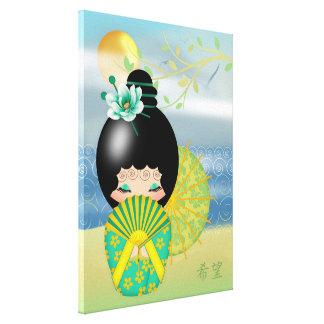 Hope, Kokeshi Doll Gallery Wrap Canvas