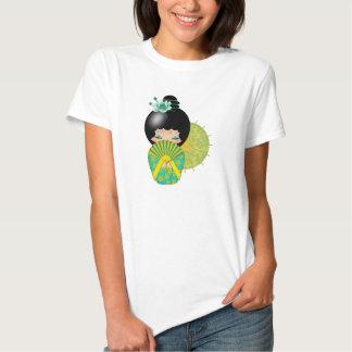 Hope, Kokeshi Doll With Ocean Waves TShirt