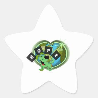 Hope (Leaf - Earth Day) Star Sticker