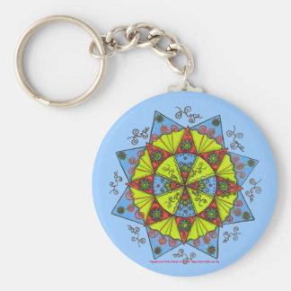 Hope (light blue) basic round button keychain