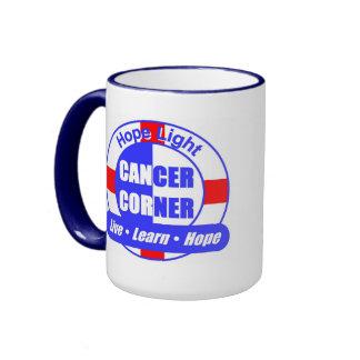 Hope Light Cancer Corner Ringer Mug