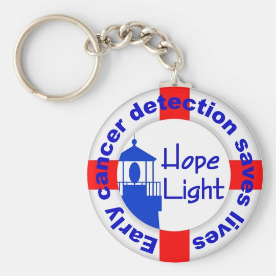 Hope Light Key Chain-Early Cancer Det Saves Lives Keychain