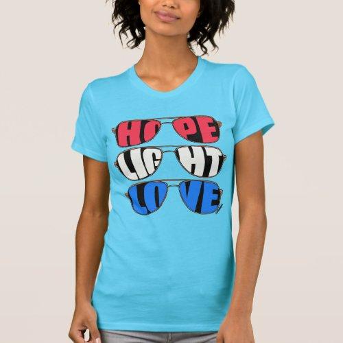 Hope Light Love Womens T_Shirt