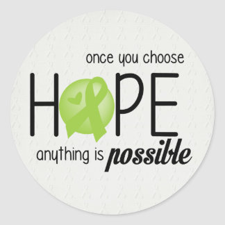 Hope (Lime) Classic Round Sticker