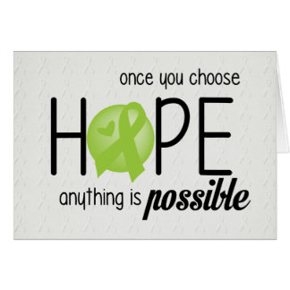 Hope (Lime) Greeting Card