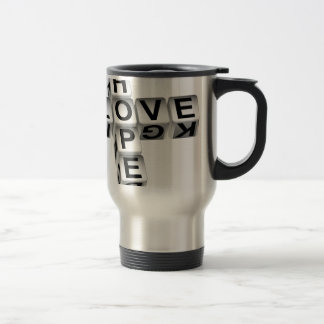 Hope Love Crossword Puzzle Travel Mug