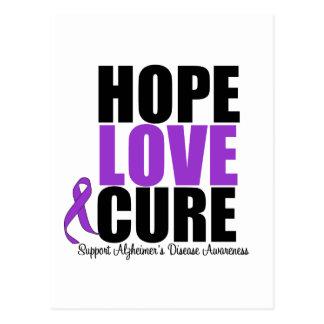 Hope Love Cure Alzheimer's Disease Postcard