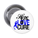 Hope Love Cure - Anal Cancer Pinback Buttons