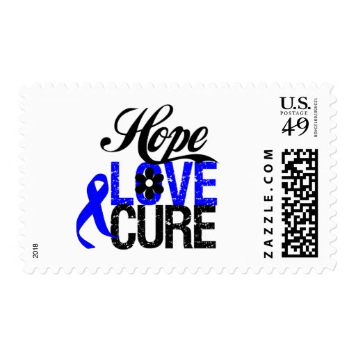 Hope Love Cure - Anal Cancer Stamps