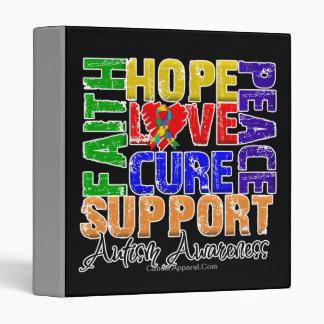 Hope Love Cure Autism Awareness 3 Ring Binders