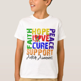 Hope Love Cure Autism Awareness T-Shirt
