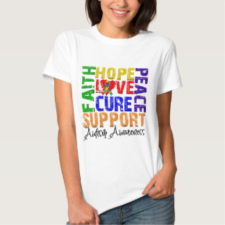 Hope Love Cure Autism Awareness T Shirts