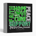 Hope Love Cure Bile Duct Cancer Awareness Vinyl Binder