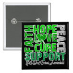 Hope Love Cure Bile Duct Cancer Awareness Buttons