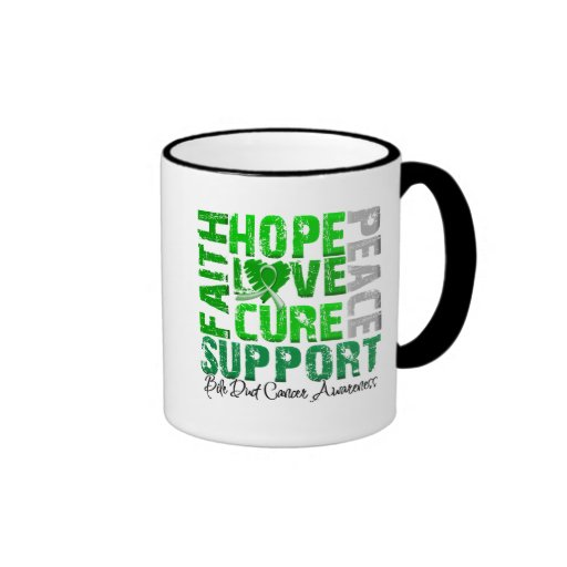 Hope Love Cure Bile Duct Cancer Awareness Coffee Mug