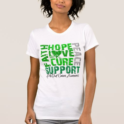 Hope Love Cure Bile Duct Cancer Awareness T-Shirt