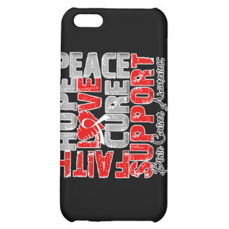 Hope Love Cure Bone Cancer Awareness iPhone 5C Cover