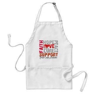 Hope Love Cure Brain Cancer Awareness Apron