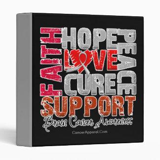 Hope Love Cure Brain Cancer Awareness 3 Ring Binder