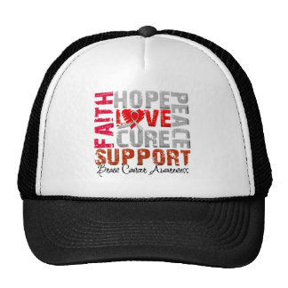 Hope Love Cure Brain Cancer Awareness Trucker Hat