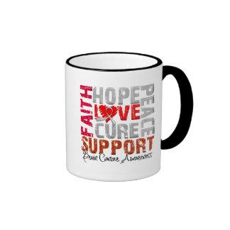 Hope Love Cure Brain Cancer Awareness Mugs