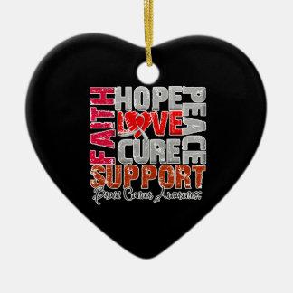 Hope Love Cure Brain Cancer Awareness Christmas Tree Ornaments