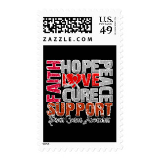 Hope Love Cure Brain Cancer Awareness Stamp
