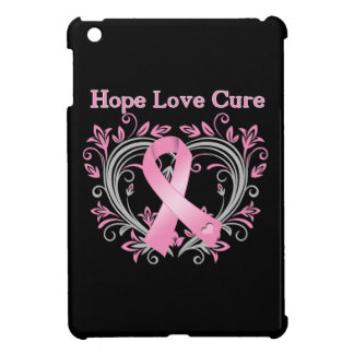 Hope Love Cure Breast Cancer Awareness Ribbon Cover For The iPad Mini