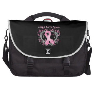 Hope Love Cure Breast Cancer Awareness Ribbon Bags For Laptop