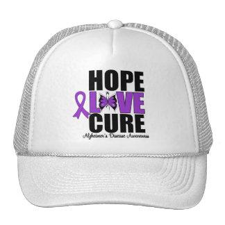 Hope Love Cure Butterfly Art Alzheimer's Disease Mesh Hat
