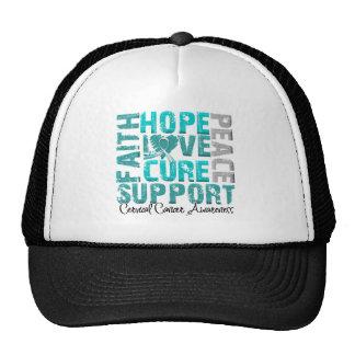 Hope Love Cure Cervical Cancer Awareness Mesh Hats