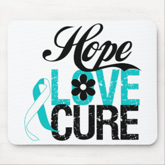 Hope Love Cure CERVICAL CANCER Gifts Mouse Pad