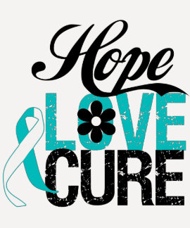Hope Love Cure CERVICAL CANCER Gifts T-Shirt