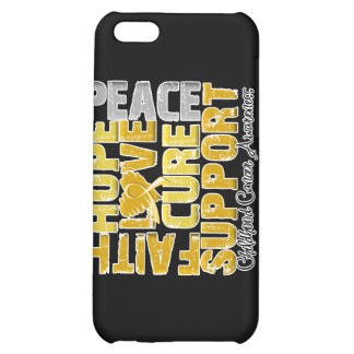 Hope Love Cure Childhood Cancer Awareness Cover For iPhone 5C