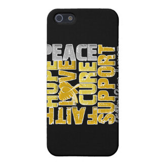 Hope Love Cure Childhood Cancer Awareness iPhone 5 Cases