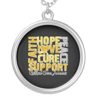 Hope Love Cure Childhood Cancer Awareness Necklace