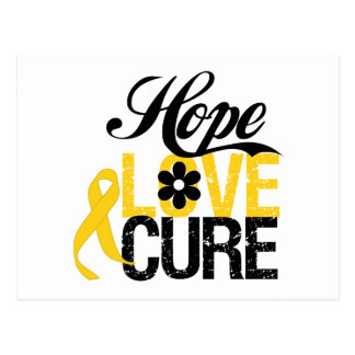 Hope Love Cure CHILDHOOD CANCER Gifts Postcards