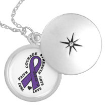 Hope Love Cure...Crohn's Locket Necklace