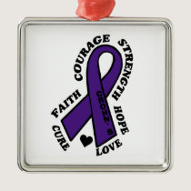 Hope Love Cure...Crohn's Metal Ornament