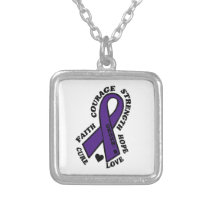 Hope Love Cure...Crohn's Silver Plated Necklace